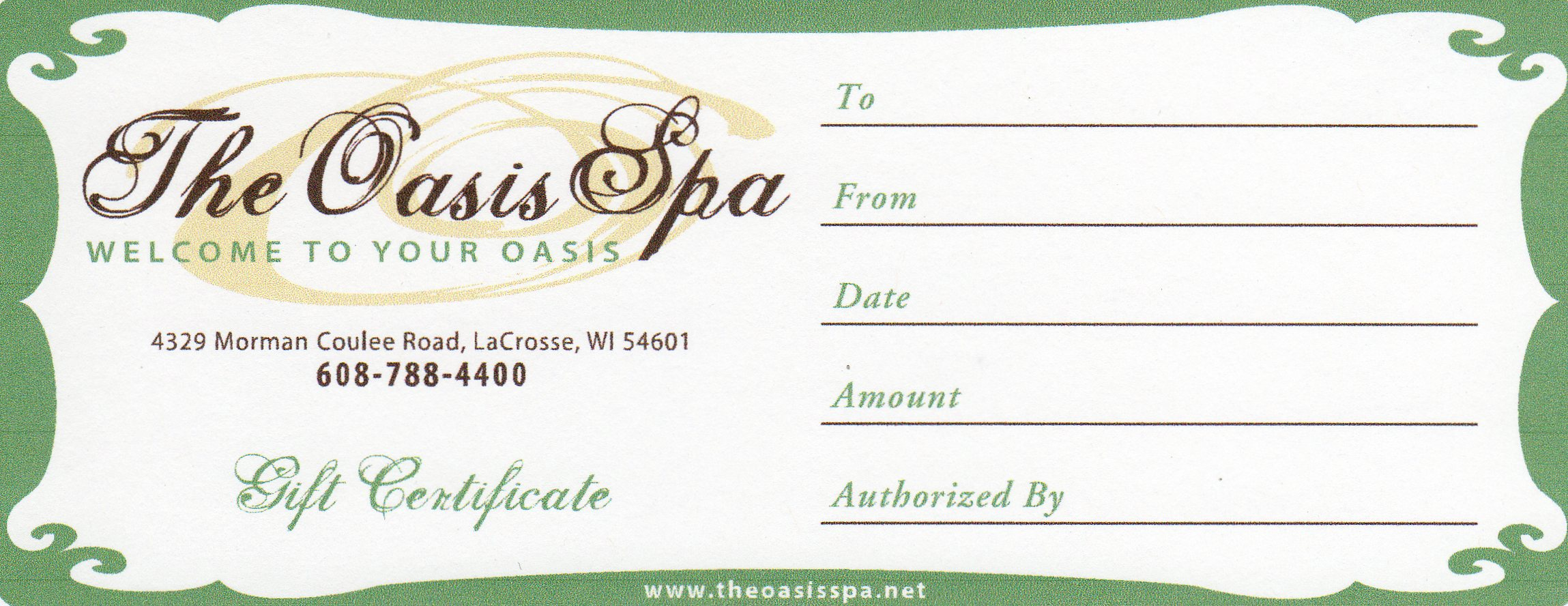 The oasis spa gift certificates xflitez Images